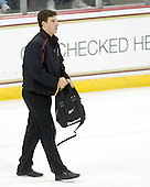 Mike Feeley (BC - Student Manager) - The Boston College Eagles defeated the Northeastern University Huskies 5-1 on Saturday, November 7, 2009, at Conte Forum in Chestnut Hill, Massachusetts.