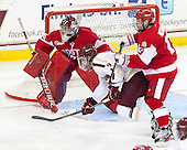 Brendan Silk (BC - 9), Garrett Noonan (BU - 13), Matt O'Connor (BU - 29) - The Boston College Eagles defeated the visiting Boston University Terriers 5-2 on Saturday, December 1, 2012, at Kelley Rink in Conte Forum in Chestnut Hill, Massachusetts.