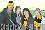 Crokes supporters l-r: Pat Fleming, Blathnaid McCarthy, Gail Tangney and Leslie McCarthy supporting their heroes in Dungarvan on Sunday