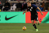 Chattanooga, TN - February 3, 2017: The U.S. Men's National team go up 1-0 over Jamaica in second half action during an international friendly match at Finley Stadium.