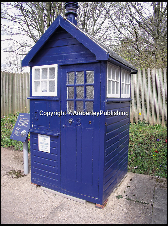 BNPS.co.uk (01202 558833)<br /> Pic: AmberleyPublishing/BNPS<br /> <br /> A wooden police box (kiosk) from Coventry, now preserved and on display at Avoncroft Museum of Historic Buildings.<br /> <br /> The iconic British phonebox has been given a ringing endorsement in a new book charting the expiring institution's fascinating history. <br /> <br /> Aptly titled 'The British Phonebox', the book primarily focuses on the ubiquitous design that's as emblematic to Britain as the black cab, double decker bus and Houses of Parliament. <br /> <br /> Equally interesting are the early chapters, which detail the phonebox's humble 19th century beginnings and the final ones, that bemoan their dwindling numbers <br /> <br /> The 96 page paperback, jointly authored by friends Nigel Linge and Andy Sutton, is published by Amberley and costs £13.49.