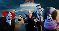 Hotel Transylvania 3: Summer Vacation (2018) <br /> Vlad (Mel Brooks), Murray the Mummy (Keegan-Michael Key), Invisible Man (David Spade), Dracula (Adam Sandler), Mavis (Selena Gomez), Frank (Kevin James) and Eunice (Fran Drescher) <br /> *Filmstill - Editorial Use Only*<br /> CAP/KFS<br /> Image supplied by Capital Pictures
