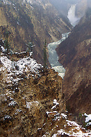 798600060 snowstorm in the grand canyon of the yellowstone in yellowstone national park wyoming