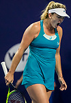 Coco Vandeweghe of United States reacts during the singles semi final match of the WTA Elite Trophy Zhuhai 2017 against Ashleigh Barty of Australia at Hengqin Tennis Center on November  04, 2017 in Zhuhai, China. Photo by Yu Chun Christopher Wong / Power Sport Images