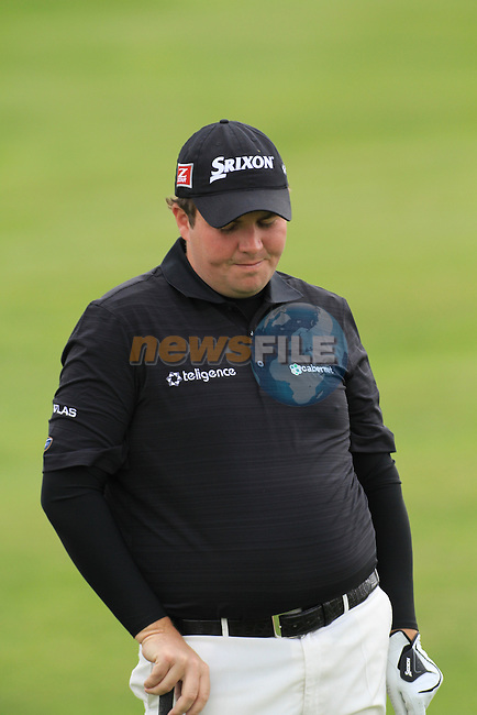 Day 3 of the 100th Irish PGA championship at Seapoint Golf Club, Co Louth..Shane Lowery playing the 16th green.Picture Fran Caffrey/www.golffile.ie.