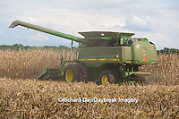 63801-07015 Farmer harvesting corn, Marion Co., IL