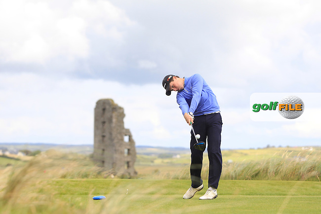 Mark McGrath (Limerick) on the 13th tee during Matchplay Round 1 of the South of Ireland Amateur Open Championship at LaHinch Golf Club on Friday 24th July 2015.<br /> Picture:  Golffile | Thos Caffrey