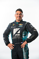 Feb 6, 2019; Pomona, CA, USA; NHRA pro stock driver Shane Tucker poses for a portrait during NHRA Media Day at the NHRA Museum. Mandatory Credit: Mark J. Rebilas-USA TODAY Sports