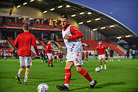 Fleetwood Town's defender Ashley Eastham (5) during the The Leasing.com Trophy match between Fleetwood Town and Liverpool U21 at Highbury Stadium, Fleetwood, England on 25 September 2019. Photo by Stephen Buckley / PRiME Media Images.