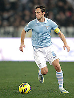 Calcio, semifinale di ritorno di Coppa Italia: Lazio vs Juventus. Roma, stadio Olimpico, 29 gennaio 2013..Lazio midfielder Stefano Mauri in action during the Italy Cup football semifinal return leg match between Lazio and Juventus at Rome's Olympic stadium, 29 January 2013..UPDATE IMAGES PRESS/Riccardo De Luca