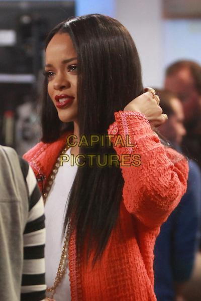 NEW YORK, NY- JANUARY 29: Rihanna (Robyn Rihanna Fenty) at Good Morning America in New York City on January 29, 2014.<br /> <br /> CAP/MPI/RW<br /> &copy;RW/ MediaPunch/Capital Pictures