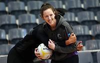 10.10.2017 Silver Ferns Bailey Mes in action during the  Silver Ferns training in Adelaide. Mandatory Photo Credit ©Michael Bradley.