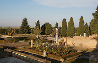 General view of the House of the Birds, Italica, Seville, Spain, pictured on December 28, 2006, in the morning. The House of the Birds is named for its central mosaic. It is the most Italian in style of the houses in Italica. Italica was founded by Scipio Africanus in 206 BC as a centre for soldiers wounded in the Battle of Ilipa, a defeat for Carthage during the Punic Wars, and became a military outpost. The name signifies that the original settlers were from an Italian regiment. It was one of the first cities in Roman Hispania and was the birthplace of two Roman Emperors: Trajan (53-117 AD) and Hadrian (76-138 AD). The city declined after the fall of the Roman Empire. Picture by Manuel Cohen.