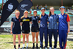 Team MVPs. The 2017 New Zealand Secondary Schools 1st XI NZCT girls' cricket national finals at Fitzherbert Park in Palmerston North, New Zealand on Sunday, 3 December 2017. Photo: Dave Lintott / lintottphoto.co.nz