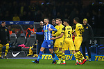 16.03.2019, OLympiastadion, Berlin, GER, DFL, 1.FBL, Hertha BSC VS. Borussia Dortmund, <br /> DFL  regulations prohibit any use of photographs as image sequences and/or quasi-video<br /> <br /> im Bild Rote Karte fuer Vedad Ibisevic (Hertha BSC Berlin #19),<br /> Marcel Schmelzer (Borussia Dortmund #29), Achfraf Hakimi  (Borussia Dortmund #5), Manuel Akanji (Borussia Dortmund #16)<br /> <br />       <br /> Foto © nordphoto / Engler