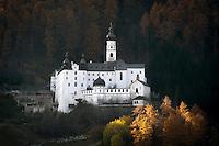 Italy, South-Tyrol (Alto Adige - Trentino), Vinschgau (Val Venosta), Burgusio: Benedictine monastery Marienberg | Italien, Suedtirol, Vinschgau, Burgeis: Benediktinerstift Marienberg