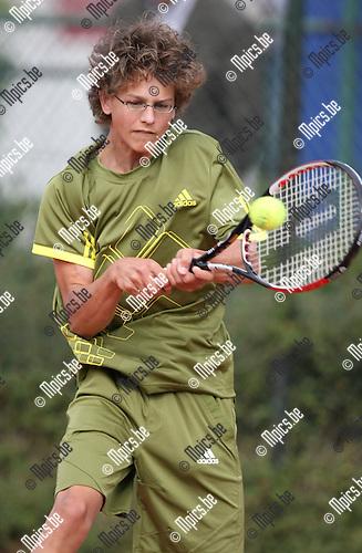 2009-09-06 / Tennis / Feest van de jeugd 2009 / Jonas Van Bouwel..Foto: Maarten Straetemans (SMB)
