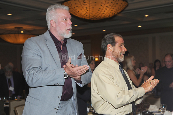 LAS VEGAS, NV - MAY 02: Kevin Nash and Shawn Michaels at the 2018 Cauliflower Alley Club Awards Banquet And Dinner at the Gold Coast Hotel & Casino in Las Vegas, Nevada on May 2, 2018. Credit: George Napolitano/MediaPunch
