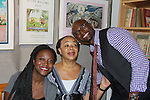 Taye Diggs (Guiding Light, Private Practice, Rent) is the author of Chocolate Me! and poses with his mom Marcia and sister Christian at the launch party to celebrate his first picture book on September 28, 2011 at Books of Wonder, New York City, New York. Taye read the book to the audience. (Photo by Sue Coflin/Max Photos)