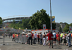 14 June 2006: Fans line up to enter the stadium before the game. Spain played Ukraine at Zentralstadion in Leipzig, Germany in match 15, a Group H first round game, of the 2006 FIFA World Cup.