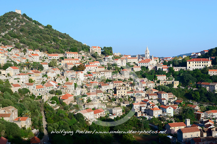 Inselhauptstadt Lastovo, Island Capital City Lastovo, Naturpark, Insel Lastovo, Dalmatien, Kroatien, Island Lastovo, Nature Park, Dalmatia, Croatia