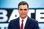 Prime Minister of Spain Pedro Sanchez during the electoral debate organized by Atresmedia television network on April 22, 2019 in Madrid, Spain.(ALTERPHOTOS/Alconada).
