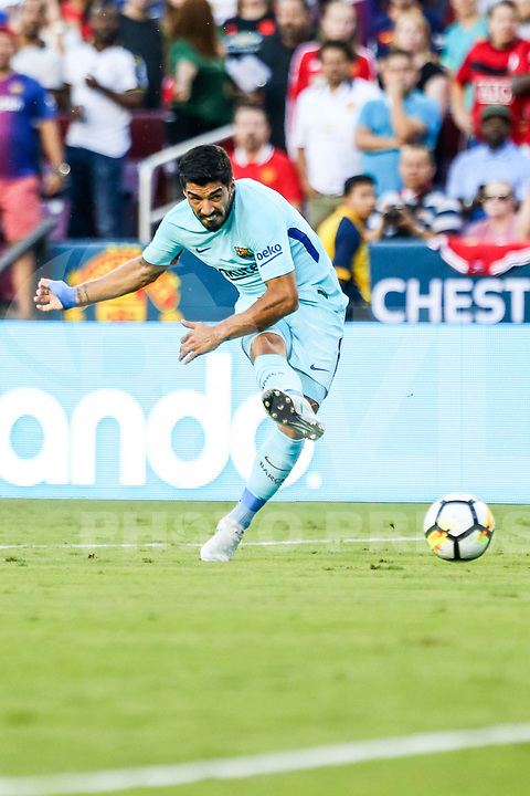 LANDOVER, EUA, 26.07.2017 - BARCELONA-MANCHESTER UNITED -  Luis Suarez do Barcelona durante partida contra o Manchester United jogo valido pela Internacional Champions Cup no  FedExField, Landover nos Estados Unidos nesta quarta-feira, 26. (Foto: William Volcov/Brazil Photo Press)