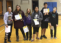 Photo Submitted<br /> Seventh grade AB Honor Roll students for the first semester are (left), Cadence Murray, Tiffany Lilly, Kaitlynn Howell, Chairzhong Xiong, Dominic Aedan Ordaz, and Ayden Ball. Not pictured are Jayden Hooper, Rebekah Lilly, and Cory Tuttle.