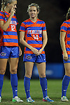 22 November 2013: Florida's Maggie Rodgers (14). The University of Florida Gators played the Duke University Blue Devils at Koskinen Stadium in Durham, NC in a 2013 NCAA Division I Women's Soccer Tournament Second Round match. Duke won the game 1-0.