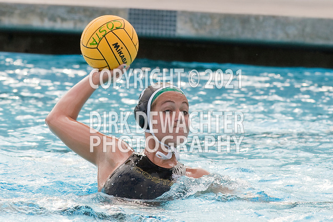 Manhattan Beach, CA 02/16/11 - Sara Booth (Mira Costa #19) in action during the 2011 first round CIF girls waterpolo playoffs between Edison and Mira Costa.