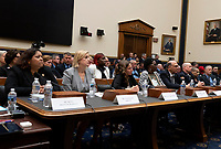 First responders, those suffering with 9-11 related illness, those trying to provide estimates for the money needed, and Jon Stewart testify at a hearing on the 9-11 Victims fund before the Judiciary subcommittee on Capitol Hill in Washington D.C. on June 11, 2019.<br /> <br /> Credit: Stefani Reynolds / CNP/AdMedia