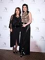 Norika Fujiwara and designer Tae Ashida attend Tae Ashida Fashion Show 2017 S/S Amazon Fashion Week Tokyo at Tokyo Japan on 17 Oct 2016. (Photo by Motoo Naka/AFLO)