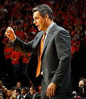 Virginia head coach Tony Bennett during the game Saturday, February 22, 2014,  in Charlottesville, VA. Virginia won 70-49.