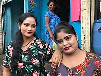 India, Maharashtra, Mumbai, Bombay, red light district. Sex workers on Falkland Road.