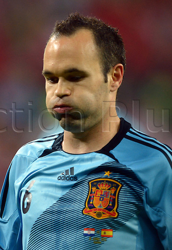 18.06.2012. Gdansk, Poland.  Spain's Andreas Iniesta during UEFA EURO 2012 group C soccer match Croatia vs Spain at Arena Gdansk in Gdansk, Poland, 18 June 2012.