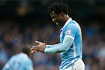 Wilfried Bony of Manchester City dejected during the Barclays Premier League match at the Etihad Stadium. Photo credit should read: Philip Oldham/Sportimage