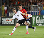 Germany's Mitchell Weiser tussles with Spain's Jose Gaya during the UEFA Under 21 Final at the Stadion Cracovia in Krakow. Picture date 30th June 2017. Picture credit should read: David Klein/Sportimage