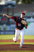 Batavia Muckdogs starting pitcher Michael Mertz (26) during a game against the Mahoning Valley Scrappers on August 19, 2016 at Dwyer Stadium in Batavia, New York.  Mahoning Valley defeated Batavia 9-2. (Mike Janes/Four Seam Images)