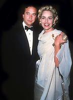 Bill MacDonald and Sharon Stone 1993<br /> Photo By John Barrett/PHOTOlink
