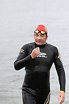 Joe Leahy finishes at the Green Buoy 1KM Swim in Clogherhead....(Photo credit should read Jenny Matthews/NEWSFILE)...