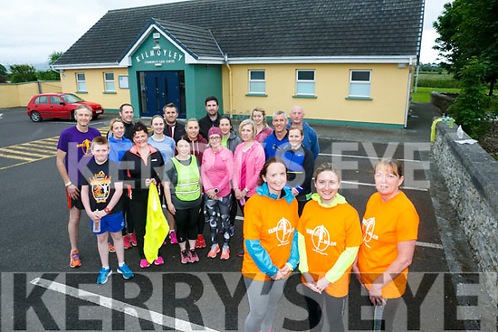 Anna Maria Costello, Agnes Godley and Bernadette O'Connell with the Kilmoyley fitness Group Launching the annual Kilmoyley Miler 5k 10k  Fun Run in aid of Kilmoyley Tidy Towns starting at Community Centre at 11pm on Sunday 25th June