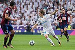 Real Madrid Luka Modric and Eibar Ander Capa and Gonzalo Escalante during La Liga match between Real Madrid and Eibar at Santiago Bernabeu Stadium in Madrid, Spain. October 22, 2017. (ALTERPHOTOS/Borja B.Hojas)