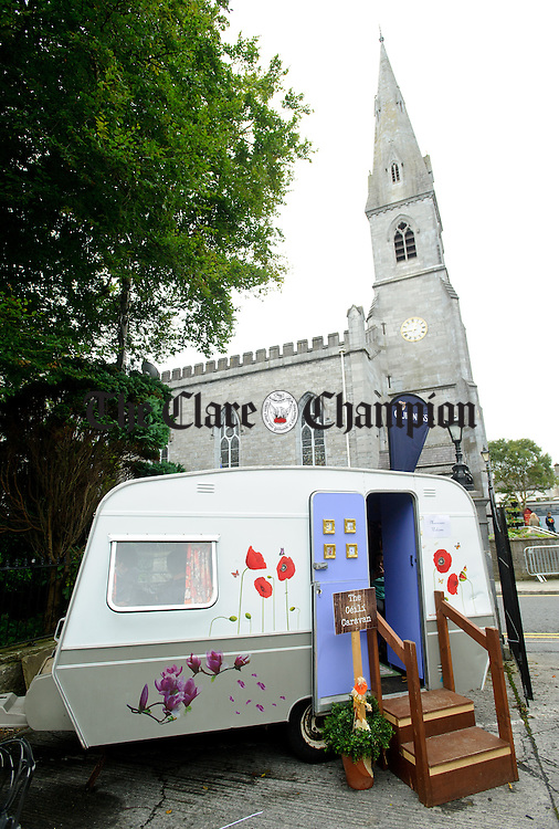 The Ceili Caravan outside the Old Ground hotel during Fleadh Cheoil na hEireann in Ennis. Photograph by John Kelly.