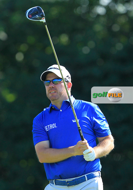 Richie Ramsey (SCO) on the 2nd tee during Round 1 of the 2016 KLM Open at the Dutch Golf Club at Spijk in The Netherlands on Thursday 08/09/16.<br /> Picture: Thos Caffrey   Golffile