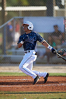 Pascanel Ferreras (13) during the WWBA World Championship at the Roger Dean Complex on October 13, 2019 in Jupiter, Florida.  Pascanel Ferreras attends Parkview High School in Stone Mountain, GA and is committed to Western Carolina.  (Mike Janes/Four Seam Images)