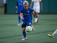Seattle, WA - Saturday July 16, 2016: Jessica Fishlock during a regular season National Women's Soccer League (NWSL) match between the Seattle Reign FC and the Western New York Flash at Memorial Stadium.