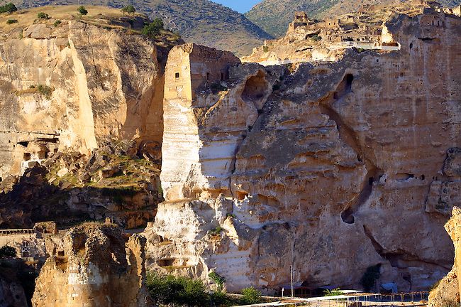 Ruins of the Ayyubids Small Palace in the citadel of ancient Hasankeyf overlooking the Tigris River. Turkey 16