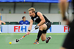 The Hague, Netherlands, June 10: Dean Couzins #8 of New Zealand passes the ball during the field hockey group match (Men - Group B) between New Zealand and The Netherlands on June 10, 2014 during the World Cup 2014 at Kyocera Stadium in The Hague, Netherlands. Final score 1-1 (0-1) (Photo by Dirk Markgraf / www.265-images.com) *** Local caption ***