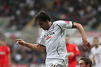 Pictured: Federico Bessone of Swansea City in action<br /> Re: Coca Cola Championship, Swansea City Football Club v Watford at the Liberty Stadium, Swansea, south Wales 09 November 2008.<br /> Picture by Dimitrios Legakis Photography (Athena Picture Agency), Swansea, 07815441513