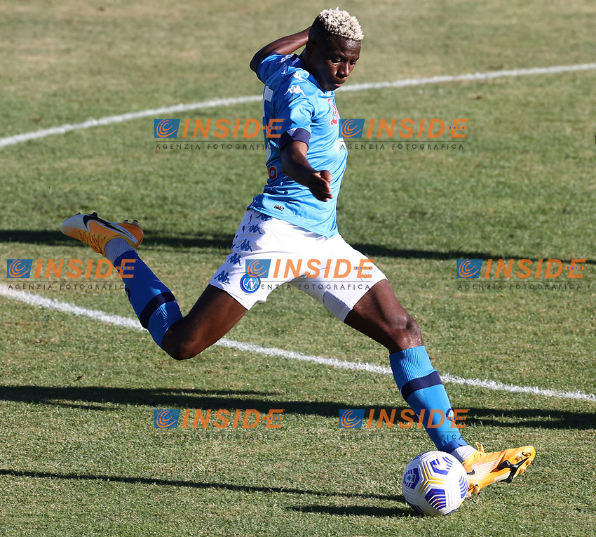 Victor Osimhen of SSC Napoli <br /> during the friendly football match between SSC Napoli and SS Teramo Calcio 1913 at stadio Patini in Castel di Sangro, Italy, September 04, 2020. <br /> Photo Cesare Purini / Insidefoto